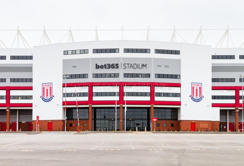 A casa do estádio da aposta 365 do clube do futebol de Stoke City foto de stock