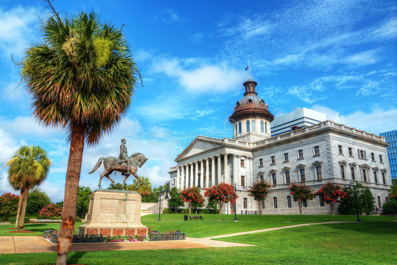 Casa do estado de South Carolina imagem de stock royalty free