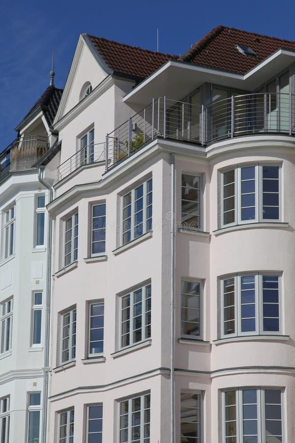 Casa do estilo do nouveau da arte em Kiel, Alemanha imagens de stock royalty free