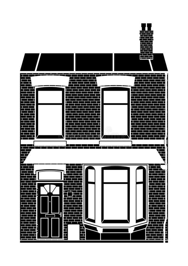 Casa do estilo do Victorian ilustração stock