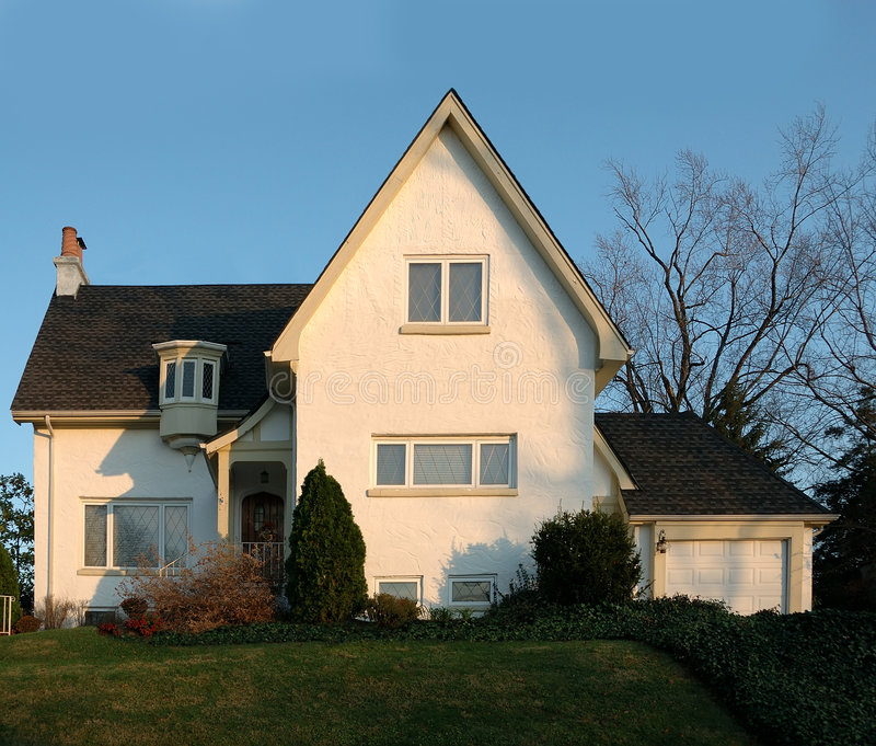 Casa do estuque em América fotografia de stock royalty free
