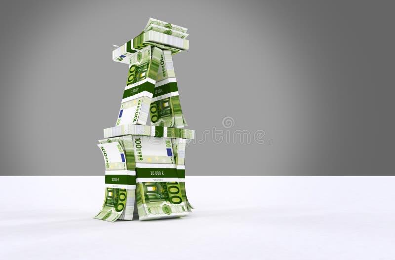 A casa do Euro do dinheiro gosta de uma casa de cartões ilustração royalty free