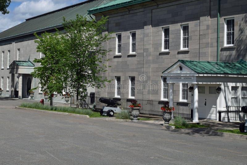 A casa do general do regulador, La Citadelle, Quebeque imagem de stock