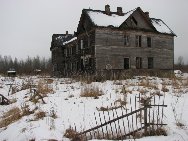 Casa do horror fotografia de stock