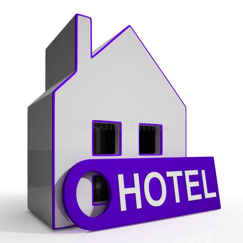 A casa do hotel significa a acomodação do feriado ilustração royalty free
