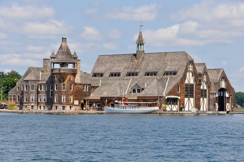 Casa do iate do castelo de Boldt em mil ilhas imagem de stock royalty free