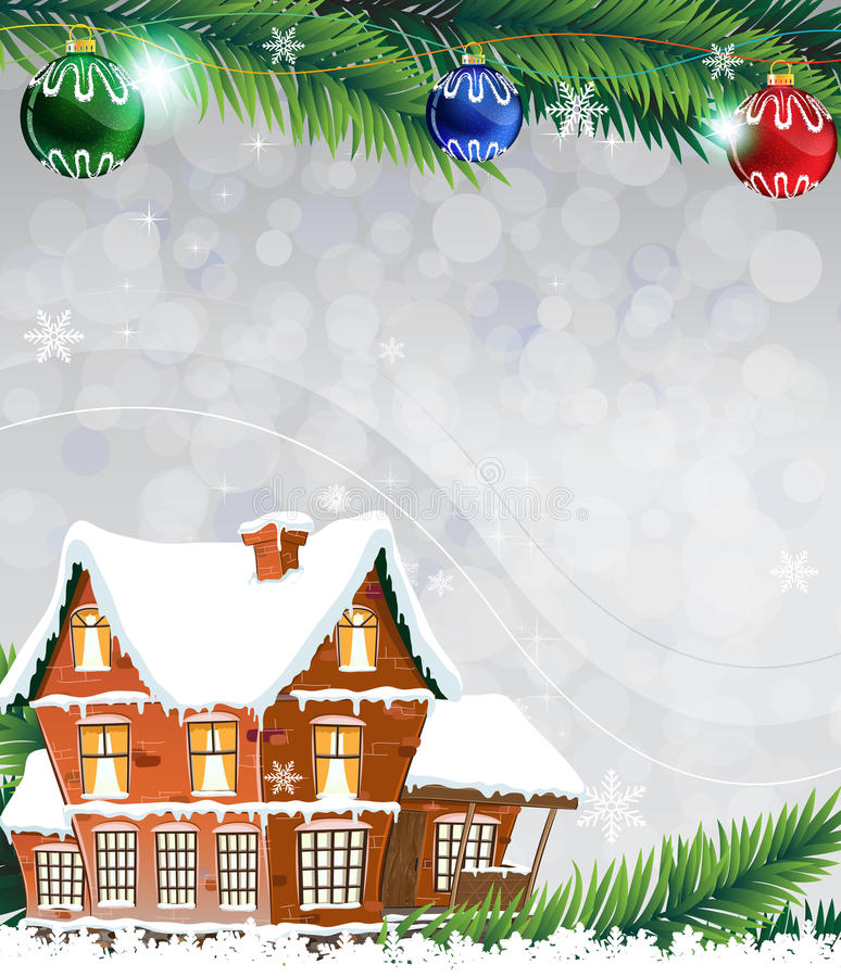 Casa do inverno ilustração do vetor