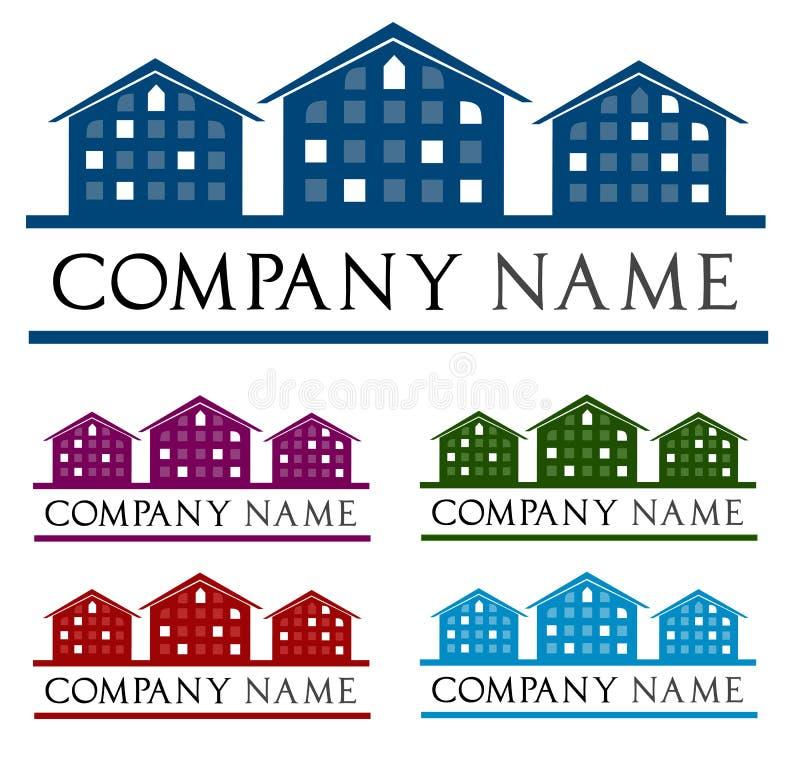 Casa do logotipo de ?ompany. Logotipo do telhado da casa ilustração stock