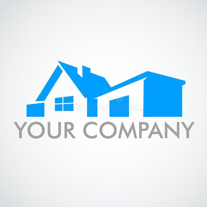 Casa do logotipo Logotipo para a marca registrada da empresa ilustração royalty free