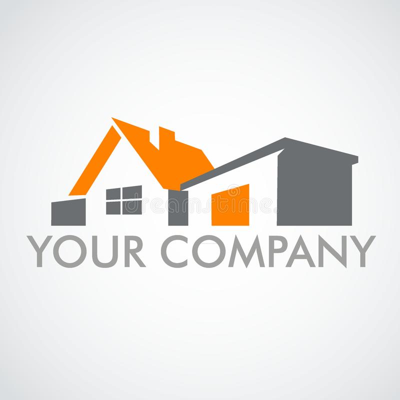 Casa do logotipo Logotipo para a marca registrada da empresa ilustração stock