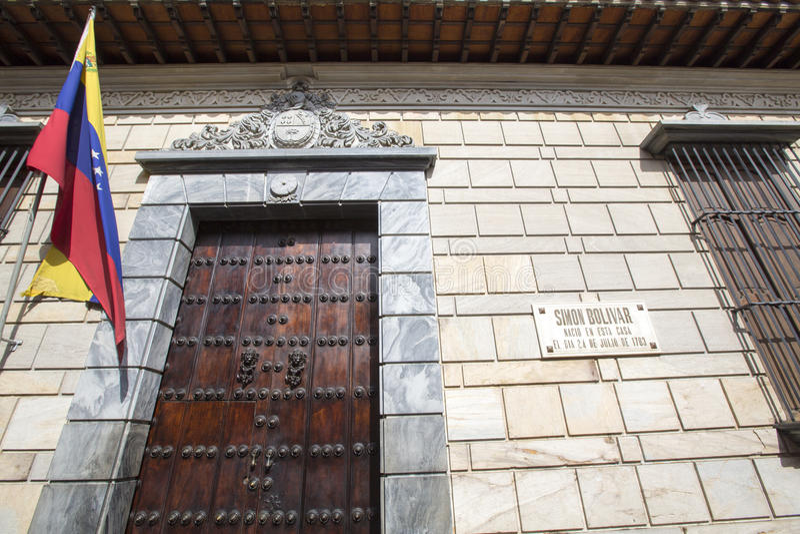 Casa do lugar de nascimento de Simon Bolivar, Caracas, Venezuela imagem de stock royalty free