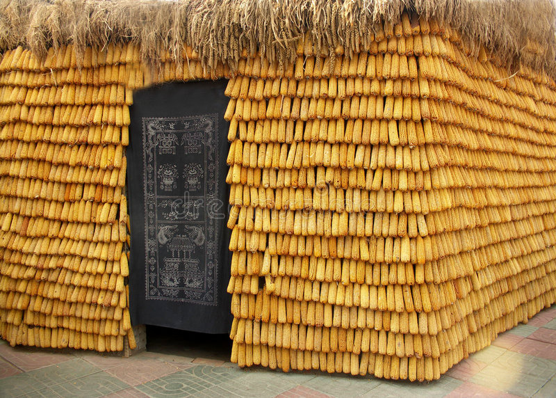 Casa do milho fotografia de stock