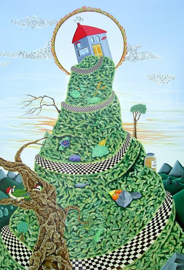 Casa do monte ilustração royalty free