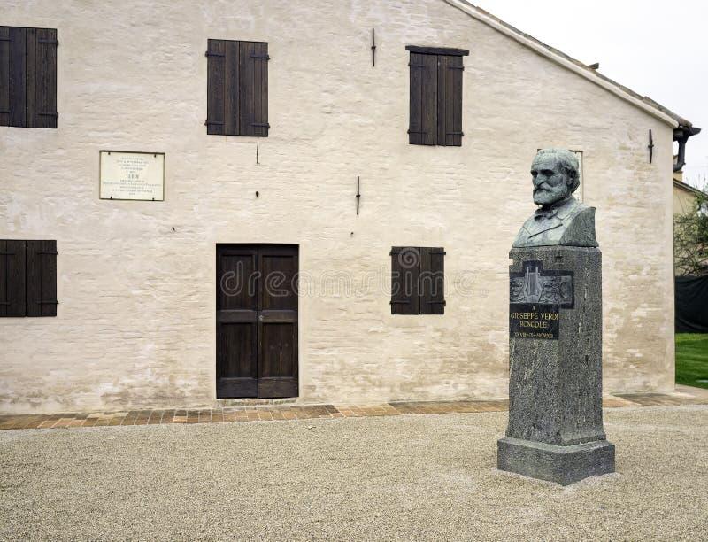Casa do nascimento de Giuseppe Verdi, detalhe Imagem da cor fotografia de stock