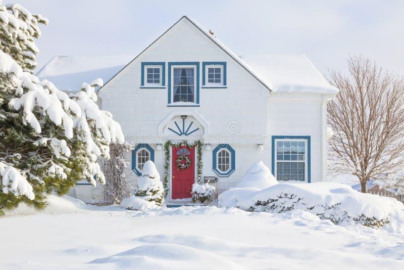 Casa do Natal imagem de stock