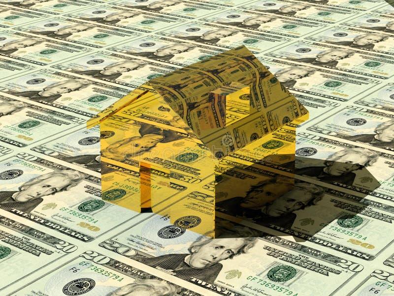 Casa do ouro imagem de stock royalty free