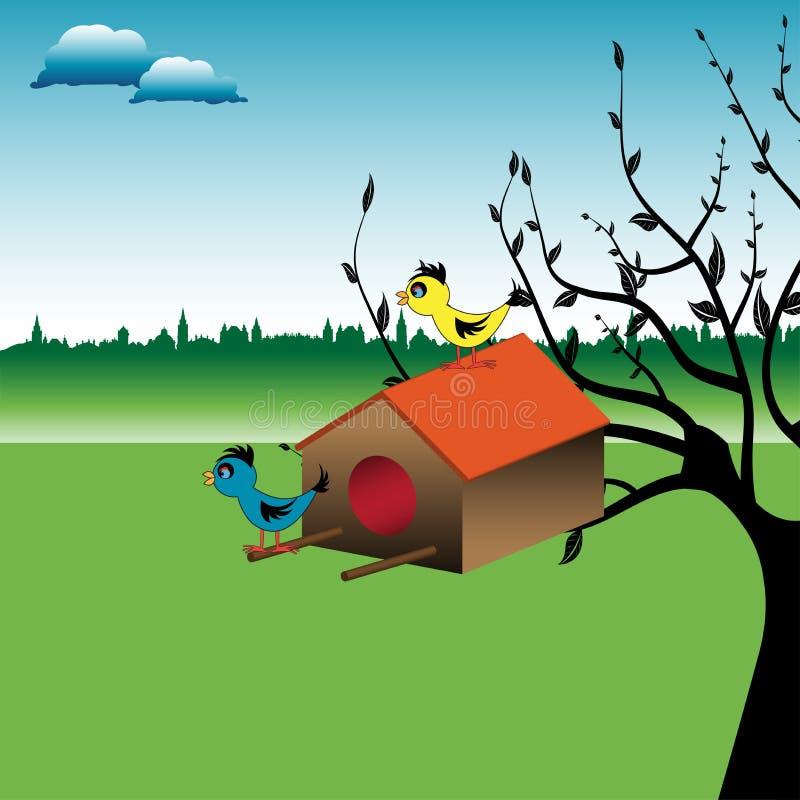 Casa do pássaro ilustração stock