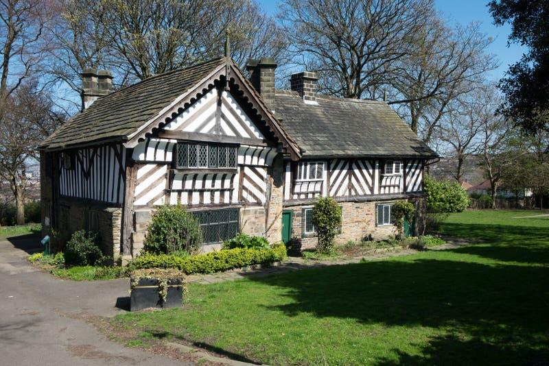 Casa do período de Tudor em Sheffield fotografia de stock