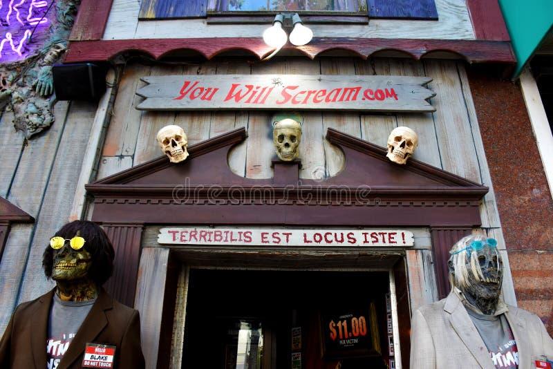 Casa do pesadelo, Virginia Beach, Virgínia, EUA imagens de stock royalty free
