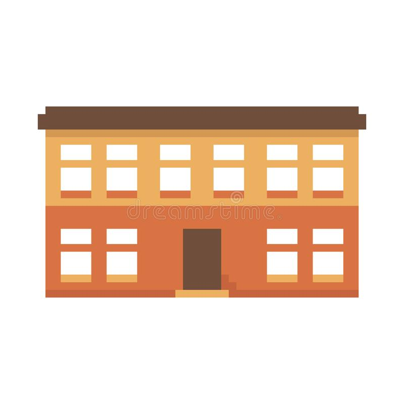 Casa do pixel isolada no fundo branco Gráficos para jogos bocado 8 Ilustra??o do vetor ilustração do vetor