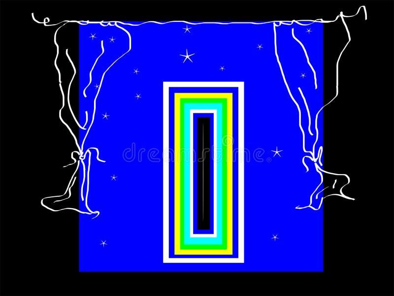 Casa do retorno Abra-se ilustração stock