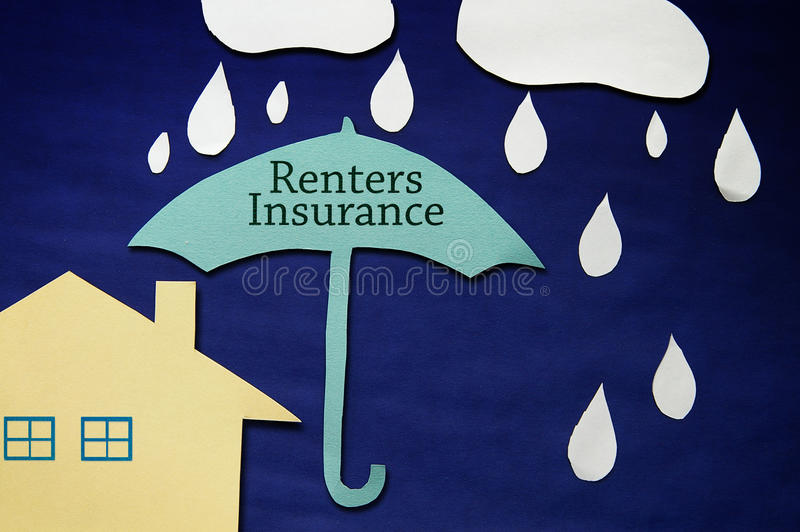 Casa do seguro dos Renters foto de stock royalty free