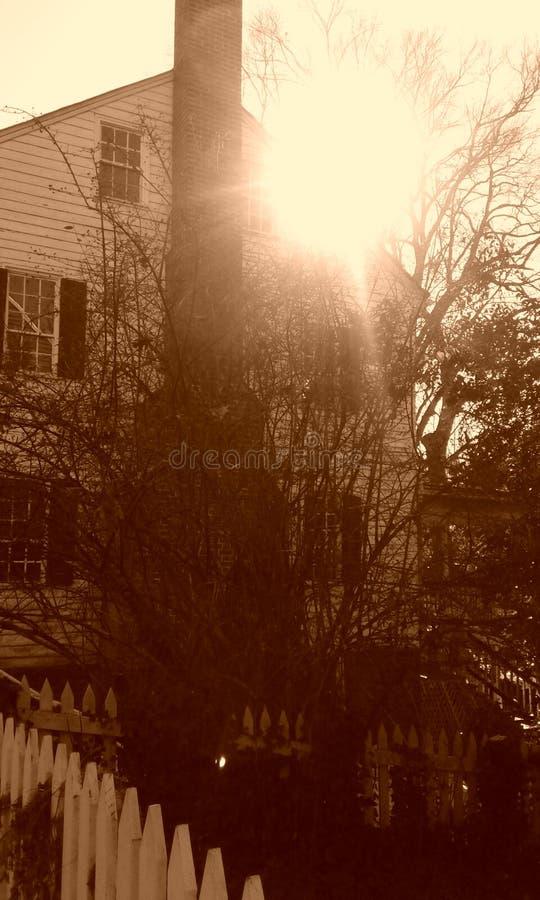 Casa do sol foto de stock