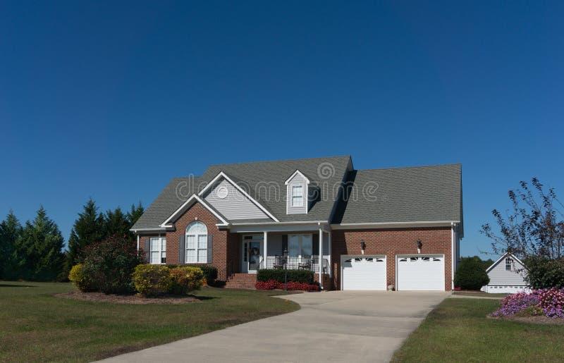 Casa do tijolo em North Carolina fotos de stock