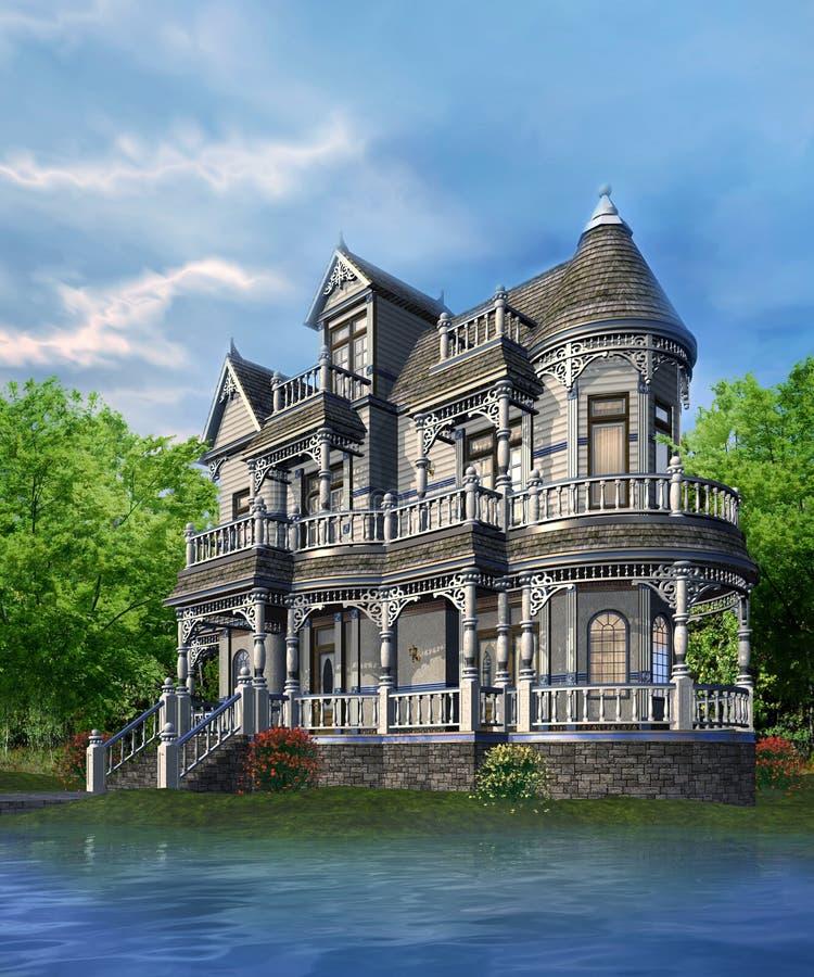 Casa do Victorian ilustração stock