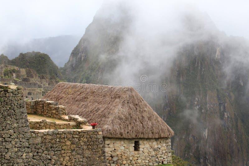 Casa do warden de Machu Picchu imagens de stock