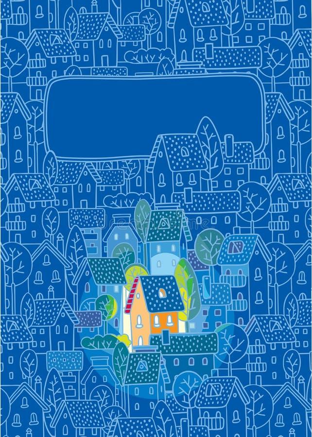 Casa doce. Cartão ilustração stock