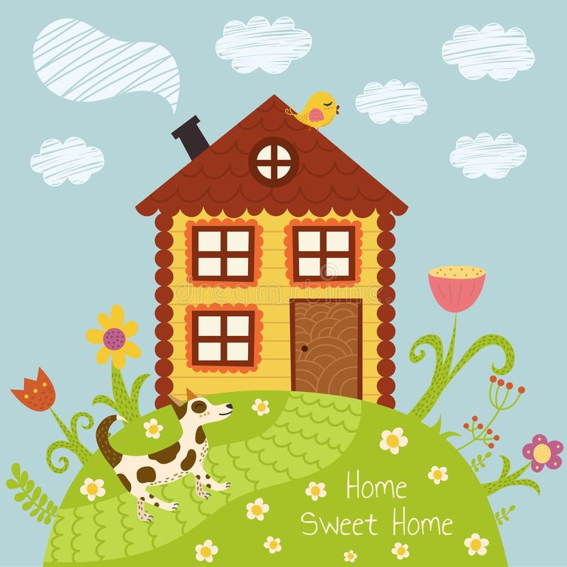 Casa dolce domestica royalty illustrazione gratis