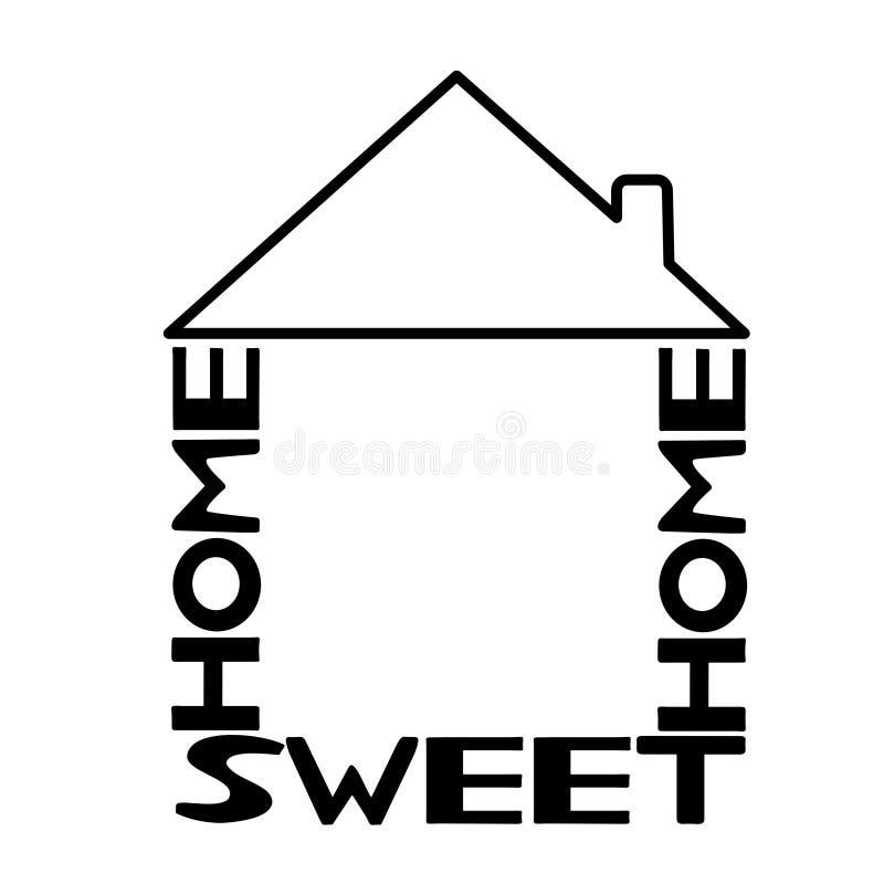 Casa dolce domestica royalty illustrazione gratis