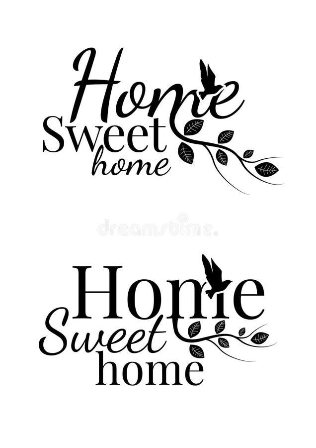 Casa dolce casa, esprimente progettazione royalty illustrazione gratis