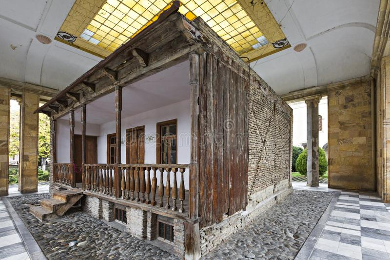 Casa donde estuvo nacido Joseph Stalin en Gori, Georgia fotos de archivo libres de regalías