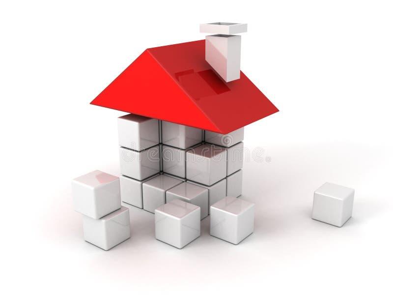 Casa dos blocos de apartamentos plásticos ilustração stock
