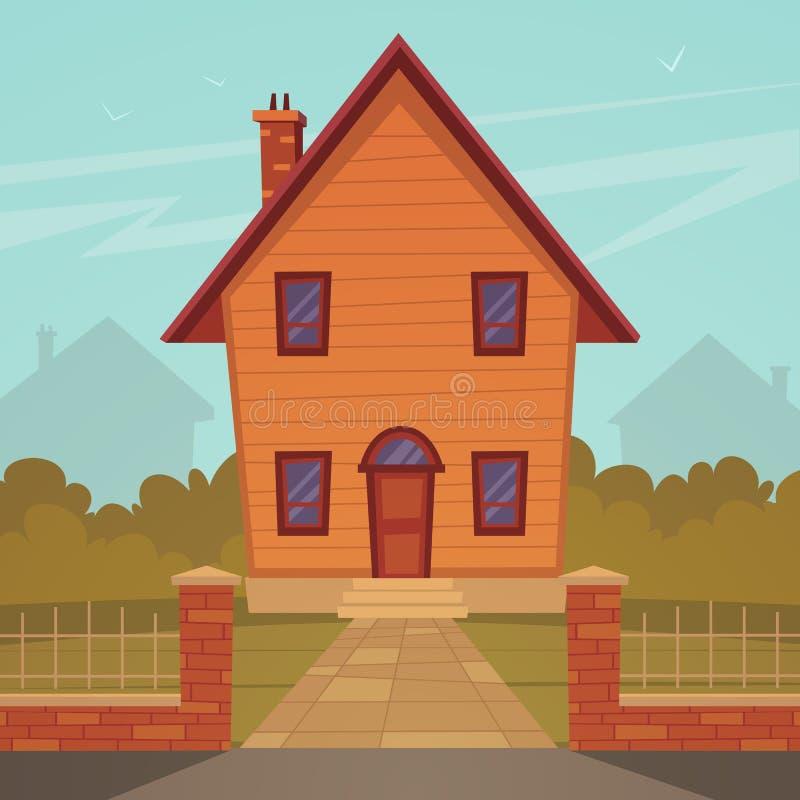 Casa dos desenhos animados ilustração royalty free