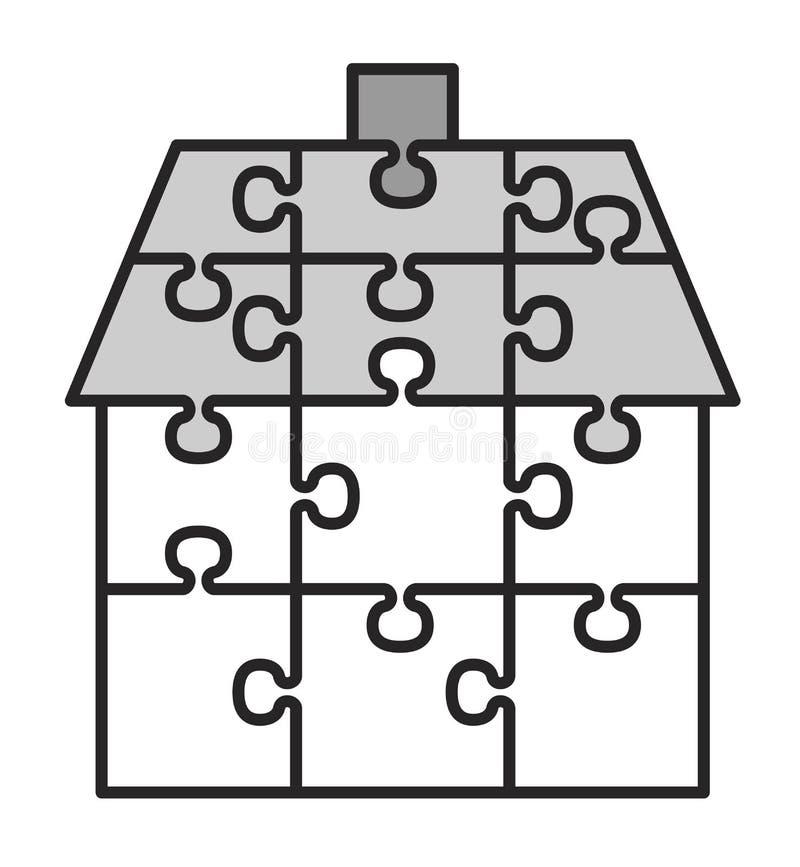 Casa dos enigmas ilustração stock
