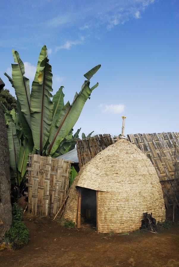 Casa dos povos de Dorze, Etiópia imagem de stock