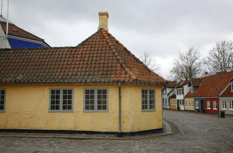 Casa dos ?s de Hans Christian Andersen fotos de stock