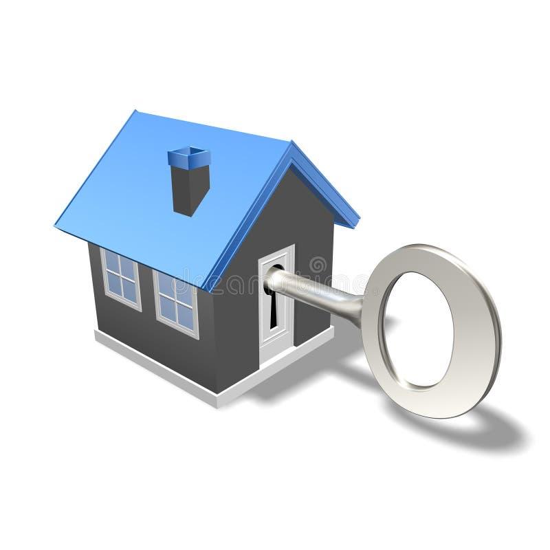 Casa e chave ilustração do vetor