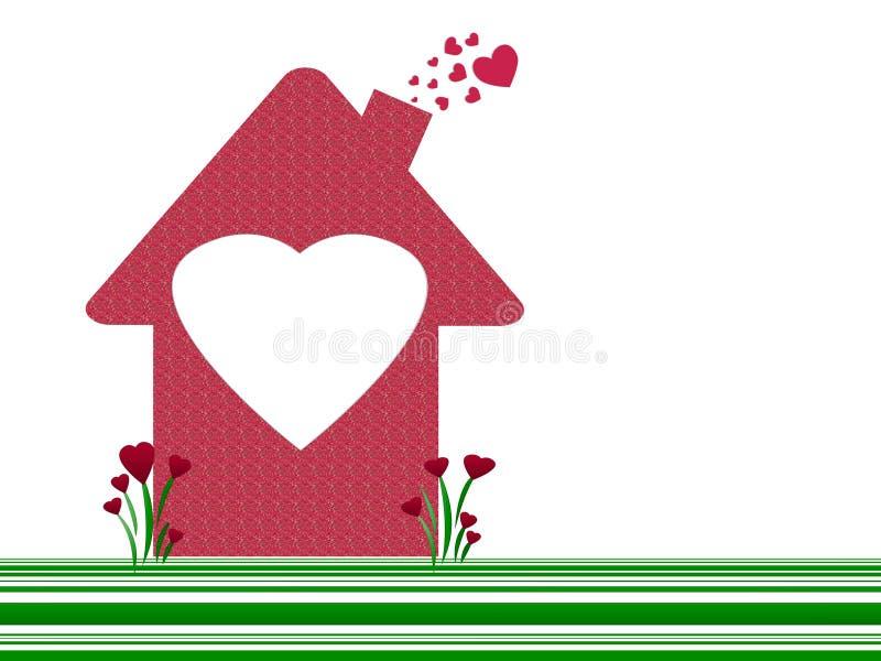 Casa e corações ilustração do vetor