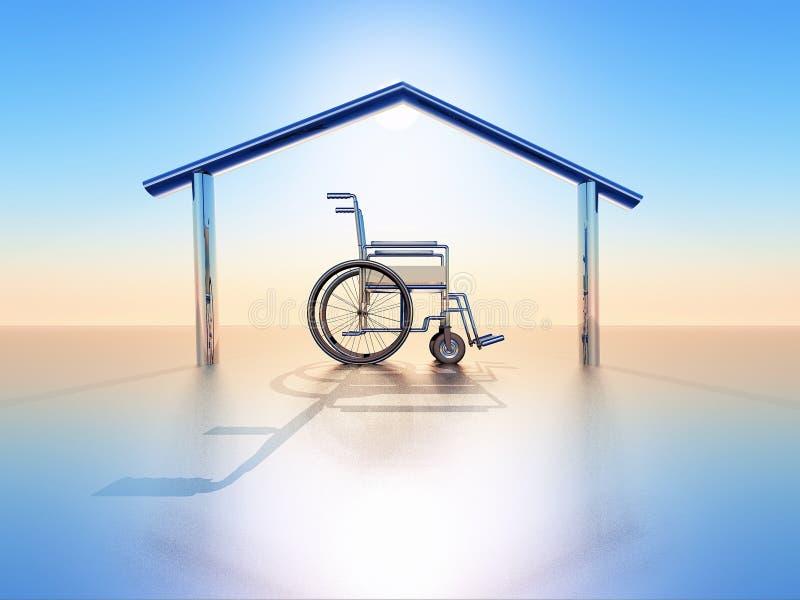 Casa e desvantagem ilustração do vetor