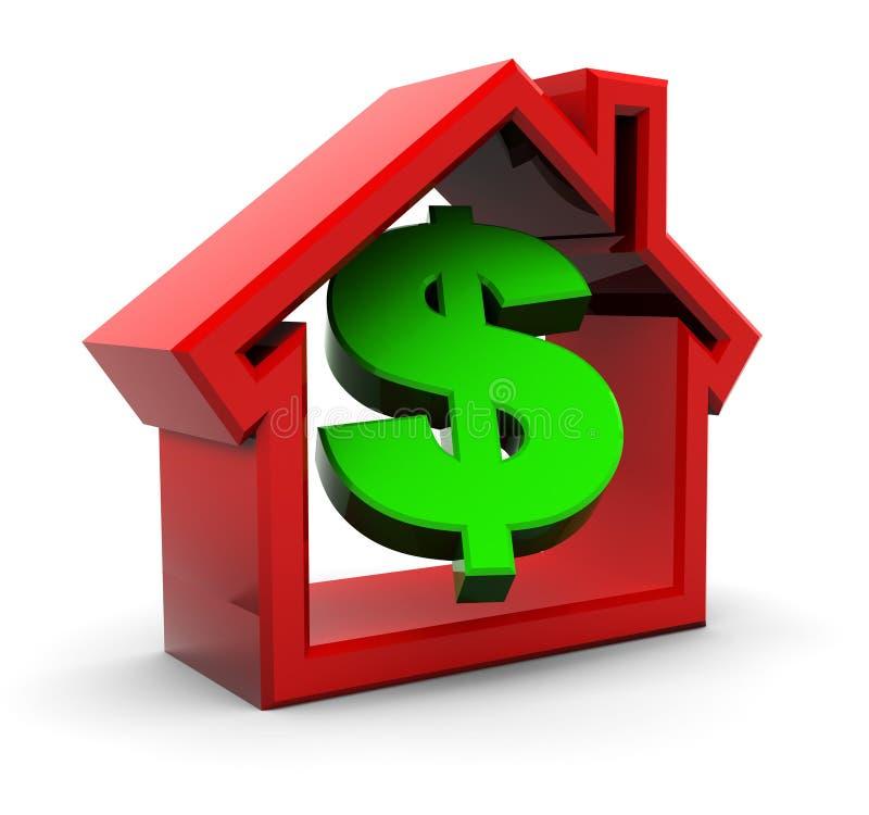 Casa e dinheiro ilustração stock