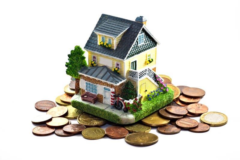 Casa e dinheiro fotografia de stock