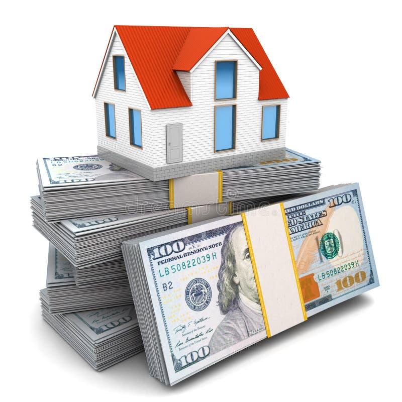 Casa e dinheiro ilustração do vetor