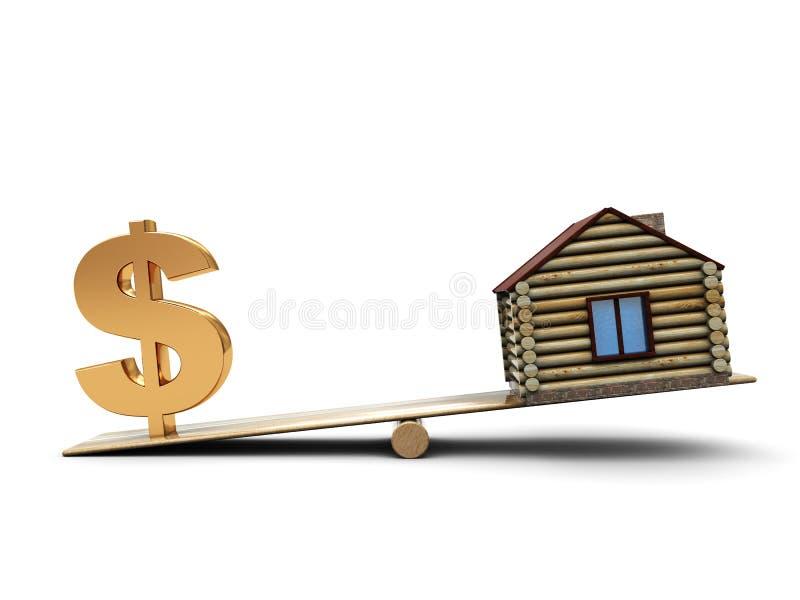 Casa e dinheiro ilustração royalty free