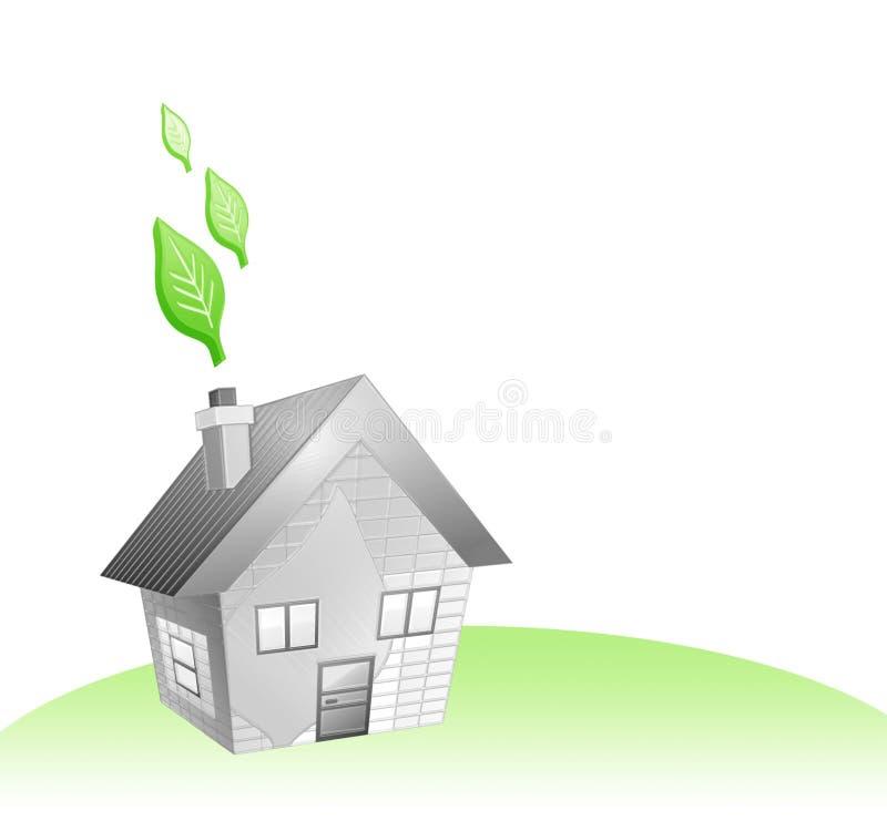 Casa e ecologia ilustração stock