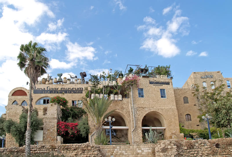 A casa e a galeria do museu do artista israelita Ilana Goo foto de stock