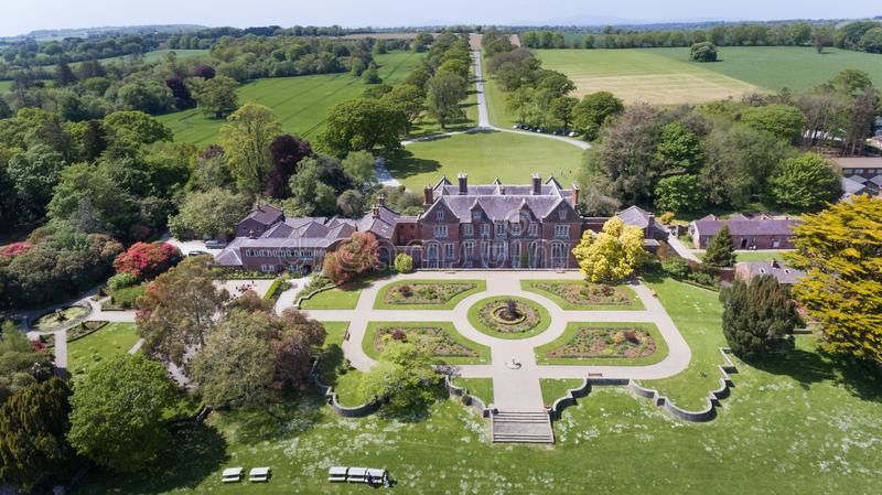 Casa e jardins de Wells Wexford ireland imagens de stock